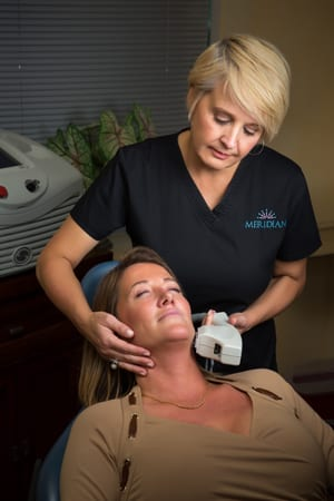 Meridian Esthetician and Patient